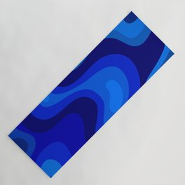 Blue Abstract Art Colorful Blue Shades Design Yoga Mat