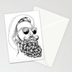 beard & sunglasses Stationery Cards