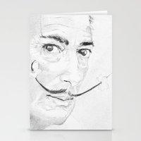salvador dali Stationery Cards featuring Salvador Dali by Sandrine Pelissier
