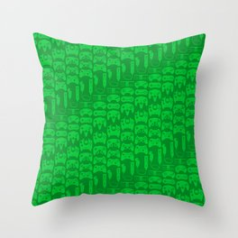 Video Game Controllers - Green Throw Pillow