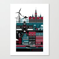 copenhagen Canvas Prints featuring Copenhagen by koivo
