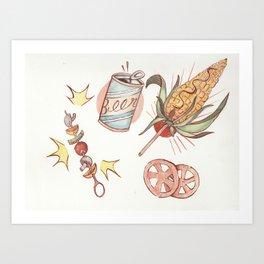 Mexican BBQ Art Print