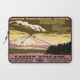 Vintage poster - Lassen Volcanic National Park Laptop Sleeve
