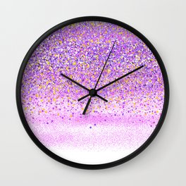 Stipple Pattern - Purple Pink Wall Clock