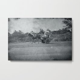Horse and Cart in Cuba Metal Print