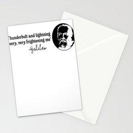 Galileo quote Thunderbolt Lightning Geek Gift Stationery Cards