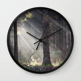 Light Beams Wall Clock