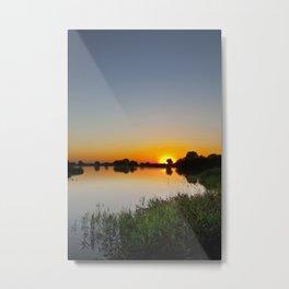 Reservoir Sunset Metal Print