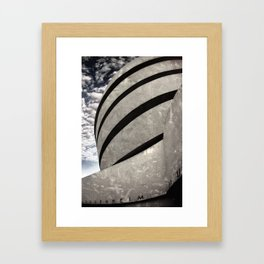 Guggenheim Museum | New York [Sky cut 441] Framed Art Print
