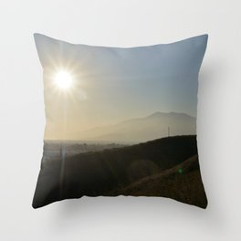 Valley of the Smokes Throw Pillow