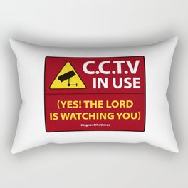 CCTV: The LORD is Watching You! - Christian Design Rectangular Pillow