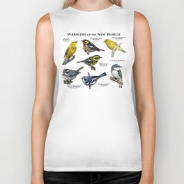 Warblers of the New World Biker Tank