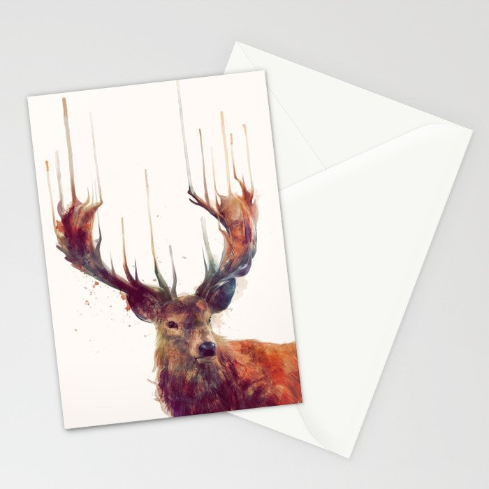 Red Deer // Stag Stationery Cards