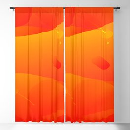 Colorful Orange Abstract Art Design Blackout Curtain