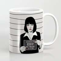 mia wallace Mugs featuring Mia by Sofia Bonati