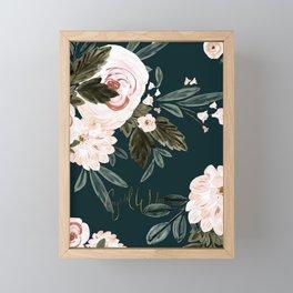 Moody Vintage Roses light Framed Mini Art Print