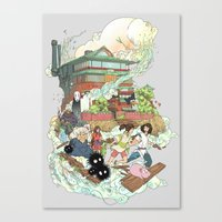 chihiro Canvas Prints featuring Chihiro by Alba Palacio