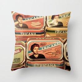 Sardine cans Throw Pillow