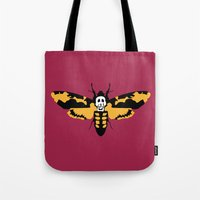 silence of the lambs Tote Bags featuring The Silence of the Lambs by FilmsQuiz