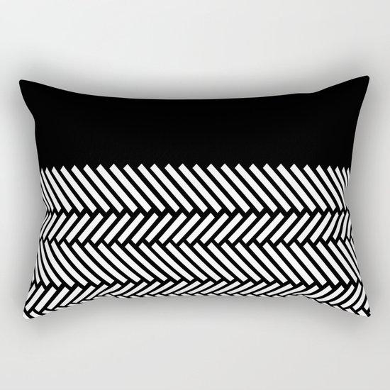 Herringbone Boarder Rectangular Pillow