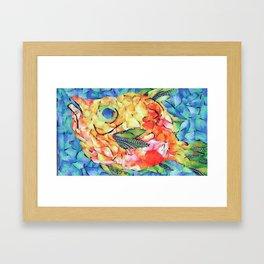hey fishy Framed Art Print