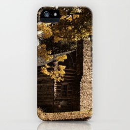 Log Cabin in Autumn iPhone Case
