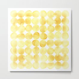 Imperfect Geometry Yellow Circles Metal Print