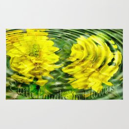 """Earth Laughs in Flowers"" by Artist McKenzie http://www.McKenzieArtStudio.com Rug"