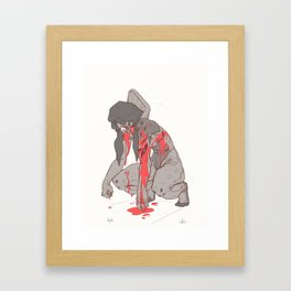 Anger (Salamander Profile) Framed Art Print