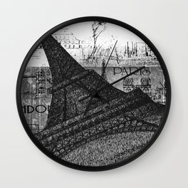 Only in Paris Wall Clock