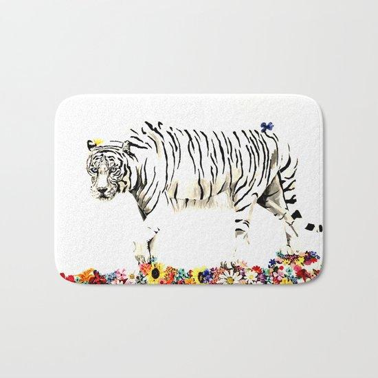 Beauty of a white tiger Bath Mat