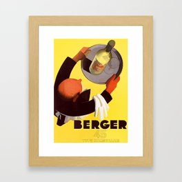Vintage Berger 45 Wine Advert - Circa 1935 Framed Art Print