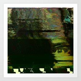 18-38-54 (The Eye Glitch) Art Print