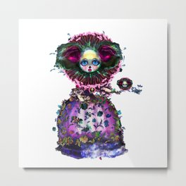 Beasts of Botanica - Black Mourning Bride's Extravagant Wedding Metal Print