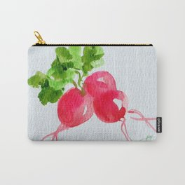 Watercolor Radishes Carry-All Pouch
