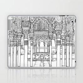 Alhambra palace, Granada, Andalucia - Spain-Black & White Laptop & iPad Skin