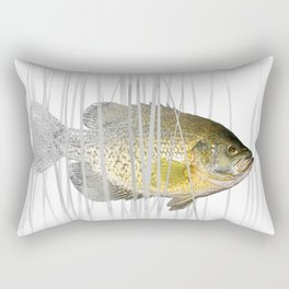 Black Crappie Fish Rectangular Pillow