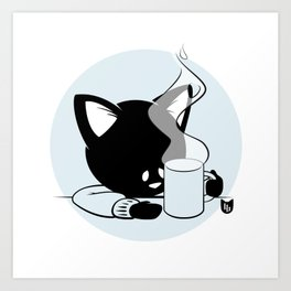 Morning Cat Art Print