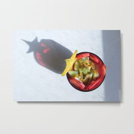 Fruit Salad Photography with special star shadow Metal Print