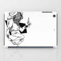 bison iPad Cases featuring Bison by Hopler Art