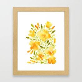 Watercolor California poppies (Quad set, #1) Framed Art Print