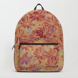 Gazania Maroon Backpack