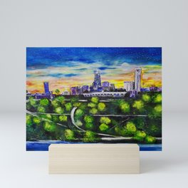 Charlotte Skyline Mini Art Print