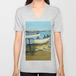 The Blue Boats Unisex V-Neck