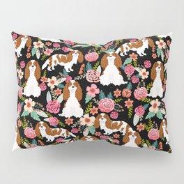 Blenheim Cavalier King Charles Spaniel dog breed florals pattern Pillow Sham