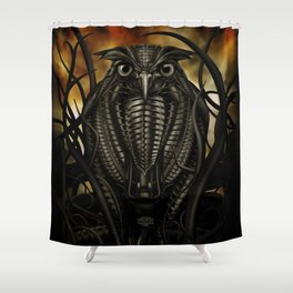 Mechanical Owl Shower Curtain