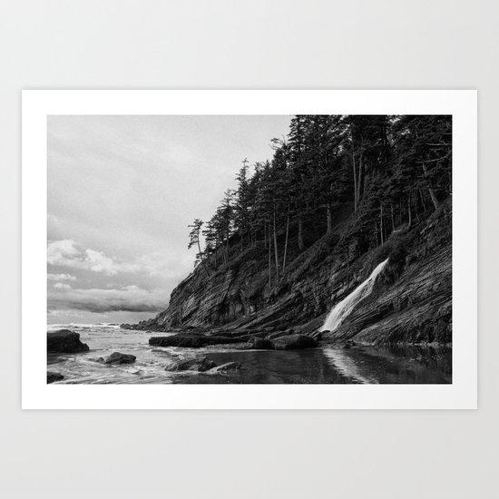 Mountain Into the Sea Art Print