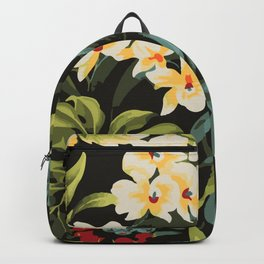 Hawaiian tropical floral palms pattern Backpack