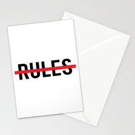Rules Stationery Cards