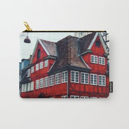 Painting of Traditional Red Restaurant in a House in Copenhagen, Denmark Carry-All Pouch